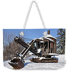 Historic Mining Steam Shovel During Alaska Winter Weekender Tote Bag