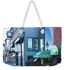Weekender Tote Bag featuring the photograph Historic Newport Buildings by Nancy De Flon