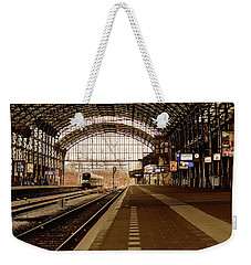 Historic Railway Station In Haarlem The Netherland Weekender Tote Bag