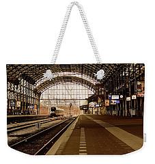 Historic Railway Station In Haarlem The Netherland Weekender Tote Bag by Yvon van der Wijk