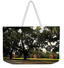 Historic Slave Houses At Boone Hall Plantation In Sc Weekender Tote Bag