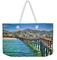 Weekender Tote Bag featuring the photograph Historic Ventura Wood Pier by David Zanzinger