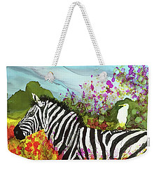 Hitching A Ride Weekender Tote Bag by Suzanne Canner