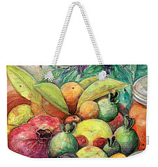 Hitching Post Harvest Weekender Tote Bag
