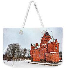 Hjularod Castle In Winter Weekender Tote Bag