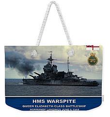 Hms Warspite Weekender Tote Bag