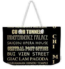 Ho Chi Minh Famous Landmarks Weekender Tote Bag