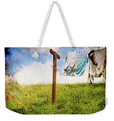 Hobbit Clothesline And Poppies Weekender Tote Bag