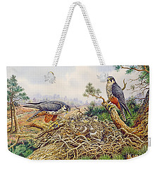 Hobbys At Their Nest Weekender Tote Bag by Carl Donner
