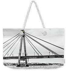 Hockey Under The Bridge Weekender Tote Bag by Ant Rozetsky