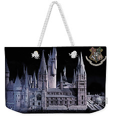 Weekender Tote Bag featuring the mixed media Hogwards School  by Gina Dsgn