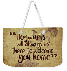 Hogwarts Is Home Weekender Tote Bag