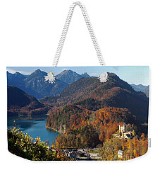 Hohenschwangau Castle And Alpsee In Bavaria Weekender Tote Bag