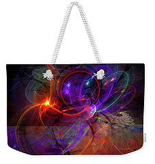 Hold On Love - Abstract Colorful Art Weekender Tote Bag