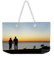 Weekender Tote Bag featuring the photograph Holding Hands By  Sunset  by Kennerth and Birgitta Kullman