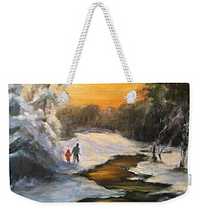 Holding My Father's Hand Weekender Tote Bag