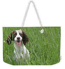 Weekender Tote Bag featuring the photograph Holding Steady  by Angie Rea