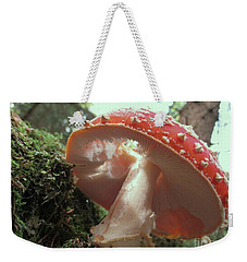 Weekender Tote Bag featuring the photograph Hole In My Hat by Martin Howard