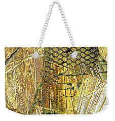 Weekender Tote Bag featuring the mixed media Hole In The Wall by Tony Rubino