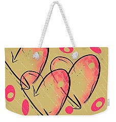 Hole Lotta Love - Neon Pink Edition Weekender Tote Bag by Jason Nicholas
