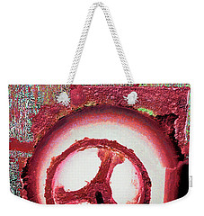 Weekender Tote Bag featuring the mixed media Hole Opposite by Tony Rubino