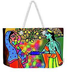 Weekender Tote Bag featuring the digital art Holi by Latha Gokuldas Panicker