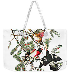 Weekender Tote Bag featuring the photograph Holiday Birds by Munir Alawi