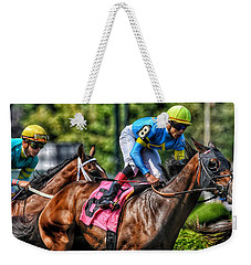 Holiday Bonus W Irad Ortiz,jr Weekender Tote Bag