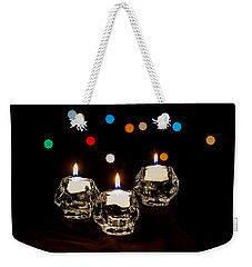 Holiday Candles Weekender Tote Bag