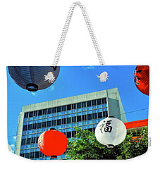 Holiday Decorations In Little Tokyo Weekender Tote Bag