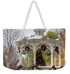 Holiday Gazebo Weekender Tote Bag by Ann Bridges
