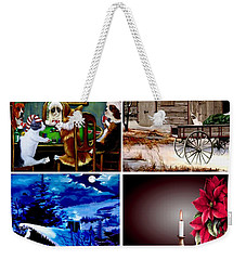 Holiday Greetings Weekender Tote Bag
