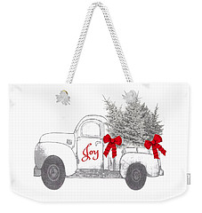 Weekender Tote Bag featuring the digital art Holiday Joy Chesilhurst Farm by Kim Kent