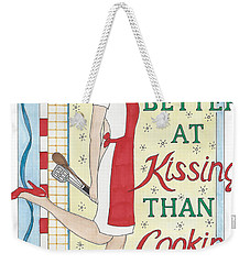 Holiday Kissing Cooking Weekender Tote Bag