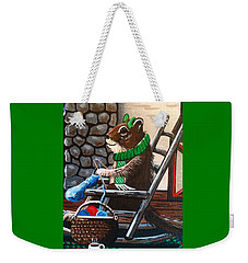 Holiday Knitting Weekender Tote Bag