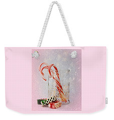 Weekender Tote Bag featuring the photograph Holiday Sweets by Diane Alexander