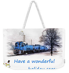 Holiday Train Weekender Tote Bag