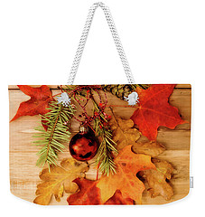 Weekender Tote Bag featuring the photograph Holidays by Rebecca Cozart