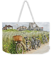 Holland - Bicycles Parked Along The Fence Weekender Tote Bag