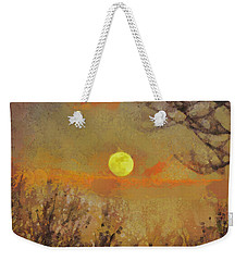 Weekender Tote Bag featuring the mixed media Hollow's Eve by Trish Tritz