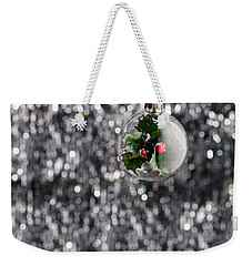 Weekender Tote Bag featuring the photograph Holly Christmas Bauble  by Ulrich Schade