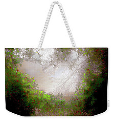 Weekender Tote Bag featuring the photograph Holly Heart by Bonnie Willis
