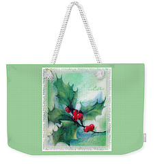 Holly Sprig Weekender Tote Bag