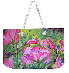Hollyhock Breeze Weekender Tote Bag