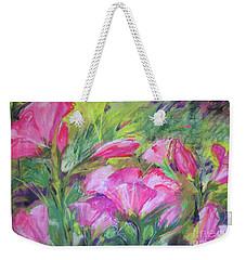 Hollyhock Breeze Weekender Tote Bag