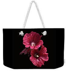 Hollyhock Glory Weekender Tote Bag