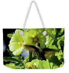 Hollyhock Hummer Weekender Tote Bag
