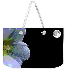 Hollyhock Moonlight Weekender Tote Bag