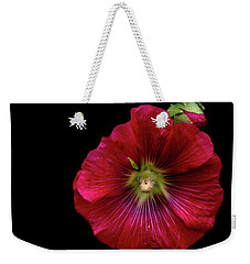 Hollyhock On Black Weekender Tote Bag