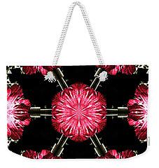 Hollyhock Pinwheel Weekender Tote Bag
